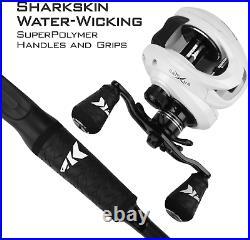 KastKing Crixus Fishing Rod and Reel Combo, Baitcasting Combo, IM6 Graphite Blan