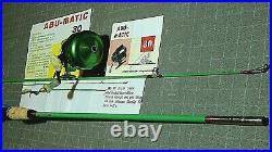 Late 50's ABU 152 5.5' M/Abumatic 30 spin-casting rod/reel combo-used/excellent+