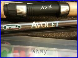 Mitchell Avocet Travel 5 Piece 5'-6 Rod With Pflueger President Reel spin combo