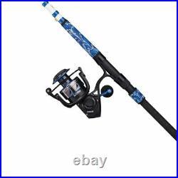 NEW PENN Battle III LE Combo 9 6000 FISHING ROD SPIN REEL COMBO BLUE