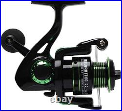 Night Cat Spinning Fishing Rod and Reel Combo Set with Carrier Case Carbon Fiber