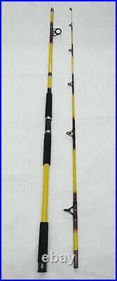 Nite Stick Catfish Spinning Combo 12' 2PC Rod Glow Tip Yellowith 9 BB Bait Runner