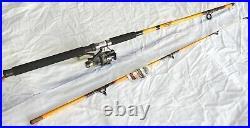 Nite Stick Catfish Spinning Combo 9' 2PC Rod Glow Tip Yellowith 9 BB Bait Runner