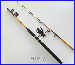Nite Stick Spinning Combo 7' 2PC Rod Glow Tip Yellowith 9 BB Bait Runner