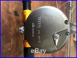 Okuma Titus 50 fishing rod and reel