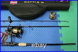 PENN Battle III 4000 Fishing Combo 7' 3-Piece MH Rod BTLIII4000703MTRVL 152246