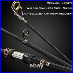 PLUSINNO Fishing Rod and Reel Combos (2.1M 6.89FTFull Kit with Carrier Case)