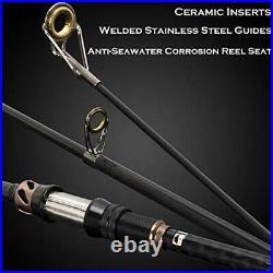 PLUSINNO Fishing Rod and Reel Combos -24 Ton Carbon Fiber Telescopic Fishing Pol