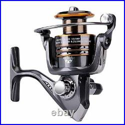 PLUSINNO Spinning Rod and Reel Combos Telescopic Fishing Rod Pole with Reel L