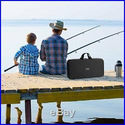 PLUSINNO Telescopic Fishing Rod and Reel Combos Full Kit Spinning Fishing Gea