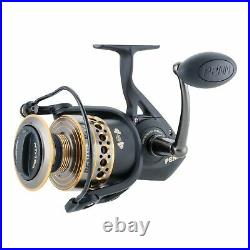 Penn Battle II HT100 Saltwater Spinning Fishing Reel and Rod Combo (For Parts)