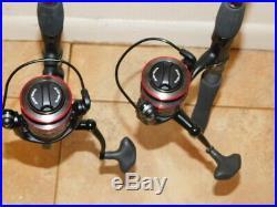 Penn Fierce II Graphite 7' 6-12 Lb Spinning Rods + Frcii 3000 Reel Combo Pair