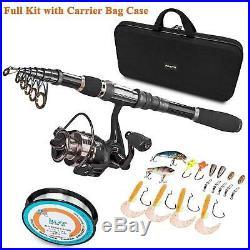 Plusinno Telescopic Fishing Rod And Reel Combos Full Kit, Spinning Fishing Gear