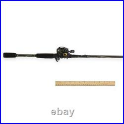 Pro Max Low Profile Baitcast Reel Fishing Rod Combo Spinning Combos 7 Stainless