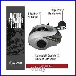 Quantum Optix Spinning Reel and 2-Piece Fishing Rod Combo, Extended EVA Foam