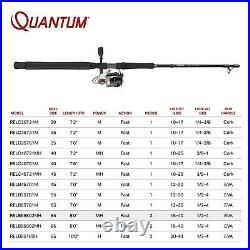 Quantum PT Reliance Spinning Reel and 2-Piece Fishing Rod Combo, Graphite Rod