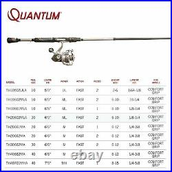 Quantum Throttle II Spinning Reel and Fishing Rod Combo, IM8 Graphite Rod wit