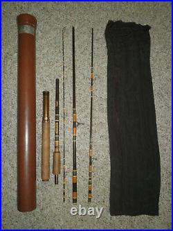 Rare 60's Browning Silaflex 5pc 7' FLY SPIN Backpacker Travel Rod Combo