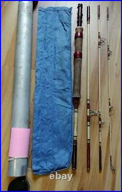 Shakespeare WONDEROD Professional SP 941 bag tube 7 ft Travel Fly Spinning Combo