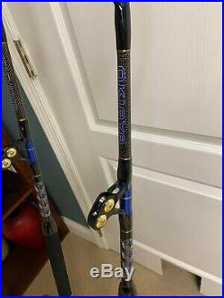 Shimano Tiagra and Penn International Reels with 4 Okiaya Custom Rods