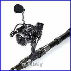 Sougayilang Fishing Rod Combos with Telescopic Fishing Pole Spinning Reels Fish