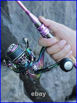 Sougayilang Fishing Rod Reel ComboCarbon Fiber Protable Spinning Fishing Pol