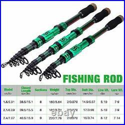 Sougayilang Fishing Rod Reel Combos, Portable Telescopic Fishing Pole Spinning