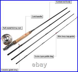 Sougayilang Fly Fishing Rod Reel Combos with Lightweight Portable Fly Rod and CN