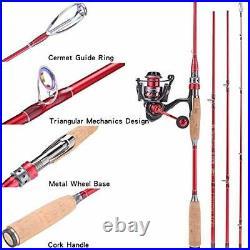 Sougayilang Spinning Fishing Rod & Reel Combos, Lightweight Carbon Fiber Fishing