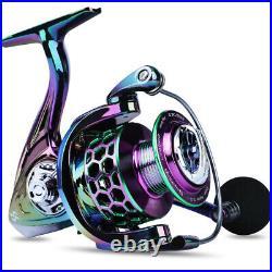 Spinning Fishing Rod Reel Combo Set Line Lure Bag Hook Float Pack Kit Outdoor US
