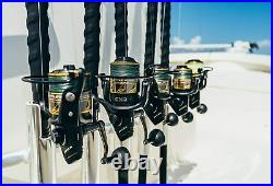 Spinning Reel and Fishing Rod Combo, Black/Gold, 4000 Reel Size 7'- Medium 1pc