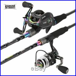 Spinning Rod Combo Baitcasting Spincasting Fishing Rods Reel Set High Quality
