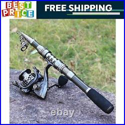 Spinning Telescopic Fishing Rod and Reel Combo for Travel Saltwater Freshwater