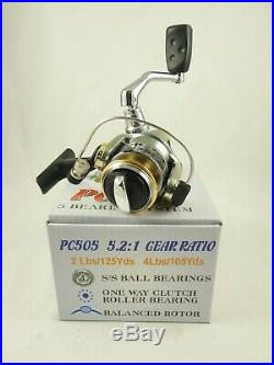 Superior Trout Spinning Combo 8' 2PC Rod Fuji Guides/5 BB Ultralight Reel 2-8 Lb