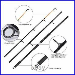 Surf Fishing Rod and Reel Combo 12ft Surf Rod 9000 Saltwater Spinning Reel