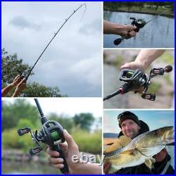Tavel Fishing Combo Casting Rod 12 1BB 6.31 Aluminium Carbon Reel Line Lure Bag