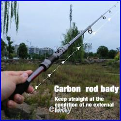 Telescopic Fishing Rod And Reel Combo Travel Carbon Fiber Pole 13+1BB 1.8-3.0m