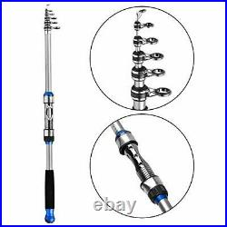 Telescopic Fishing Rod and Reel Combos Full Kits, Spinning Fishing Gear Pole Se