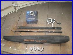 Telescopic carbon 9ft fishing rod with Okuma Inspira reel