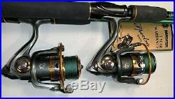Two 6½ Master Rod & DK3000 (11 bb) Reel (Black Braid) Combos