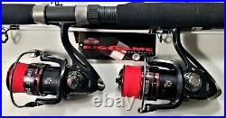 Two Berkley Big Game 8 Rod and HB6000 (12 bb) Reel (Red Braid) Combos