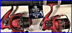 Two Coastal Tuff 8 Rod & XF6000 (13+1 bb) Reel (Black Braid) Combos