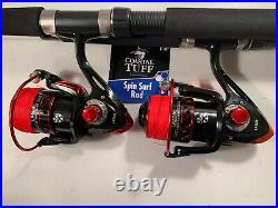 Two Coastal Tuff 8 Rod & XF6000 (14 bb) Reel (Black Braid) Combos