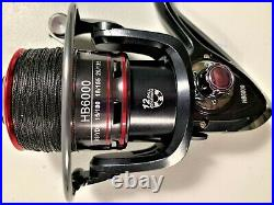 Two Master Roddy 8 RE8 Rod & HB6000 (12 bb) Reel (Red Braid) Combos