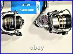 Two New Shimano FXS 7 Rod and KSM3000 (14+1 bb) Reel Combo