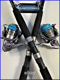 Two Quantum 7 Blue Runner Rod & KSA3000 (14+1 bb) Reel Combos
