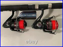 Two Quantum 8 Blue Runner Rod & HB6000 (12 bb) Reel (Red Braid) Combos