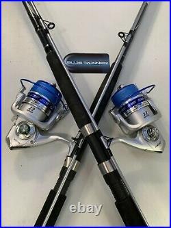 Two Quantum 9 Blue Runner Rod & AL7000 (12 bb) Reel Combos