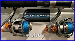Two Quantum 9 Blue Runner Rod & DC7000 (12 bb) Reel Combos