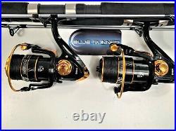 Two Quantum Blue Runner 8 Rod & BN6000 (12 bb) Reel Combos